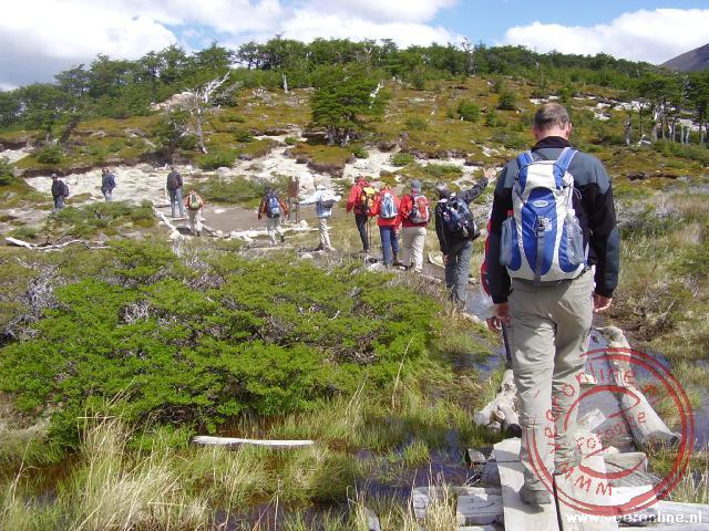 De wandeling naar de basis van de Cerro Torre
