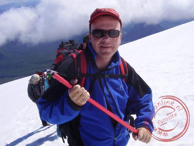 Halverwege de Villarica vulkaan