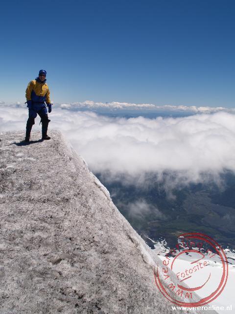 Vanaf de Villarica vulkaan is er een prachtig uitzicht over de hele omgeving