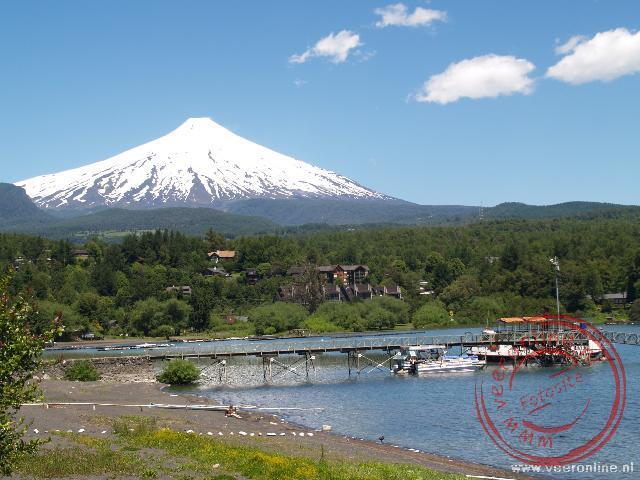 De 2.850 meter hoge Villarica vulkaan