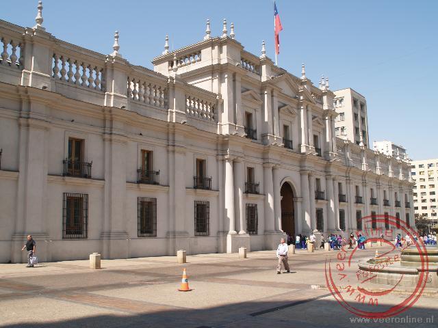 In het Palacio de La Moneda zetelt de president van Chili