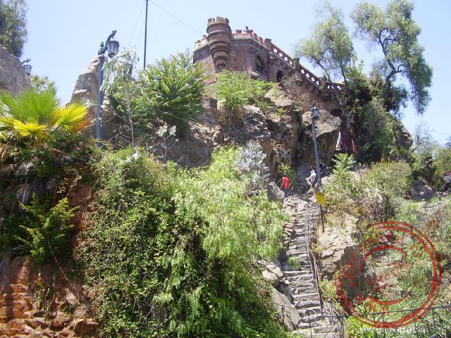 Op de rots in het stadspark Santa Lucia is ooit Santiago gevestigd