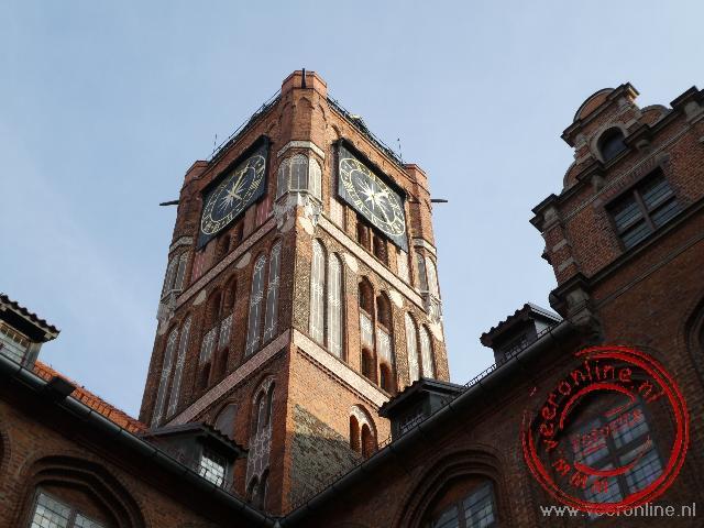 De toren van het raadhuis van Torun