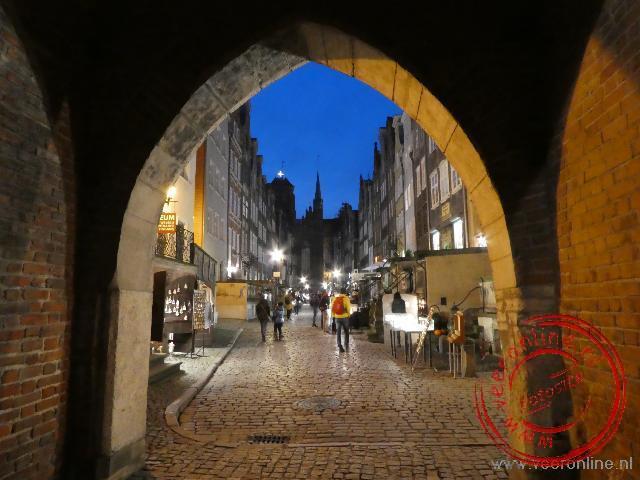 Eén van de historische straatjes in het oude centrum van Gdansk