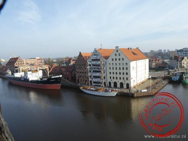 Het uitzicht vanuit de historisch houten Crane