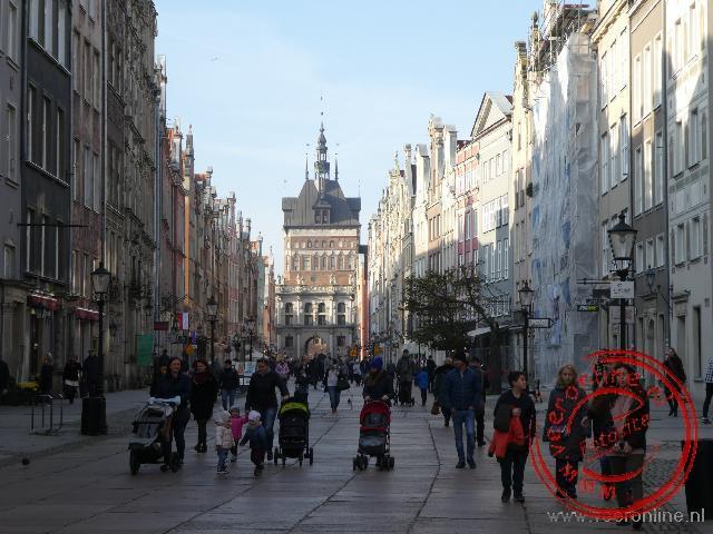 De Koninklijke route van Gdansk loopt van de Groene naar de Gouden poort