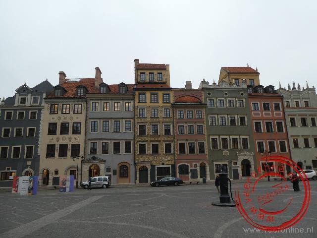 Het marktplein van Warschau