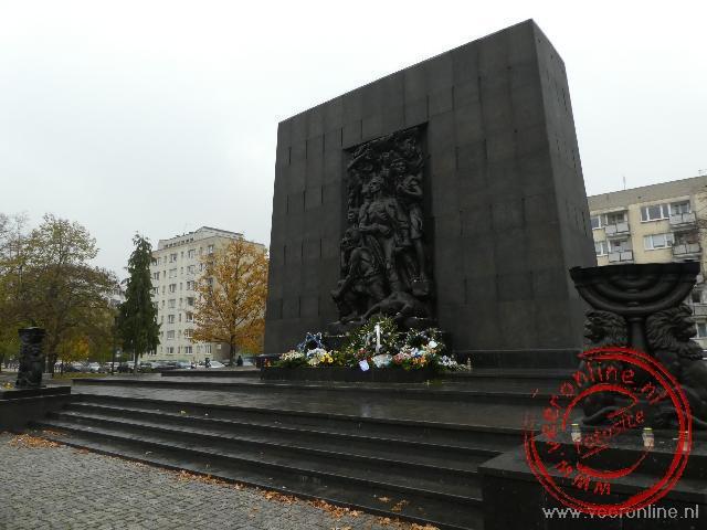 Het monument voor de Opstandelingen van het Getto