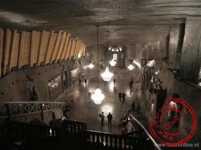 Een enorme Kathedraal uitgehouwen in de zoutmijnen