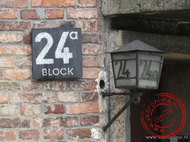Barak 24a op het kamp Auschwitz