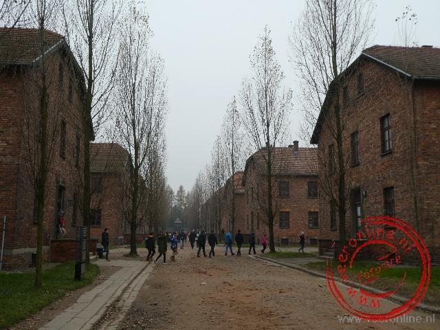 De primitieve barakken van Auschwitz I