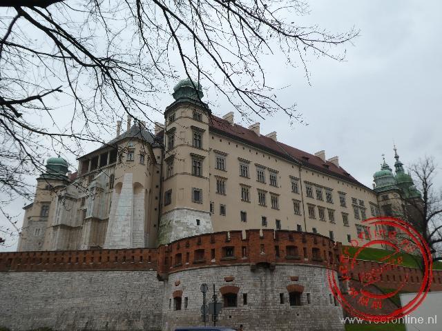 Het Koninklijke slot op de Wawel heuvel