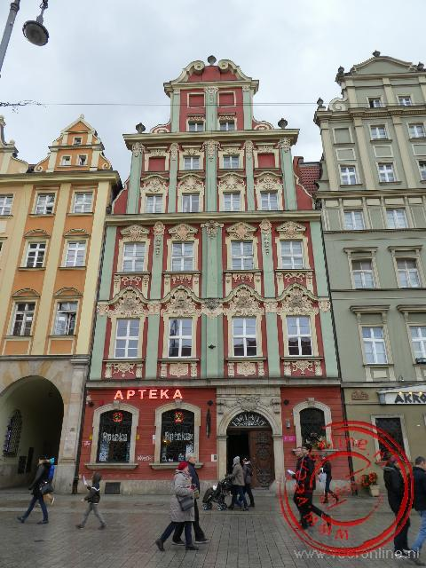 Eén van de karakteristieke huizen aan de Rynek van Wroclaw