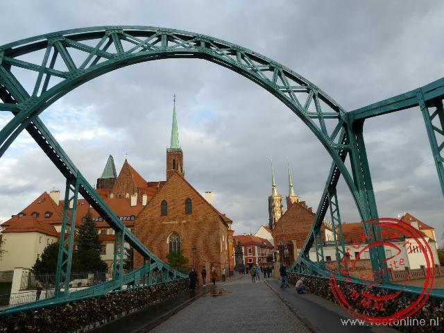 De toegang naar het eiland waar de stad Wroclaw ooit ontstaan is