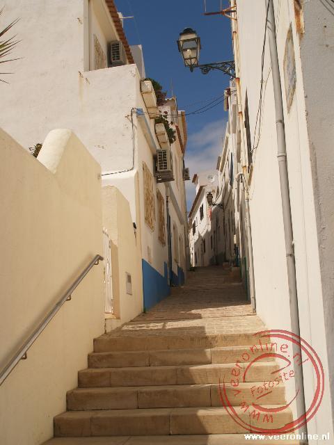 Smalle straatjes in Albufeira