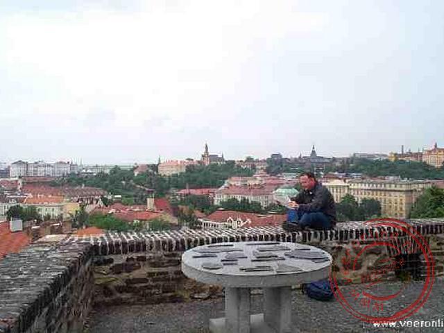 Het uitzicht over de stad vanuit Vysehrad