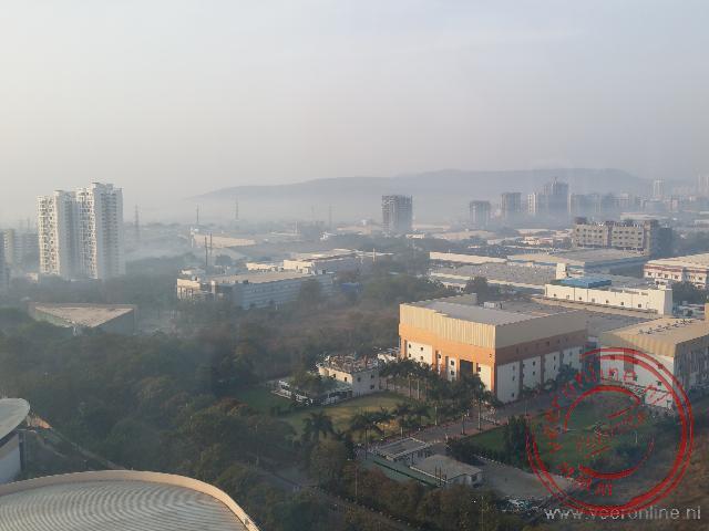 Het uitzicht op de Infosys campus