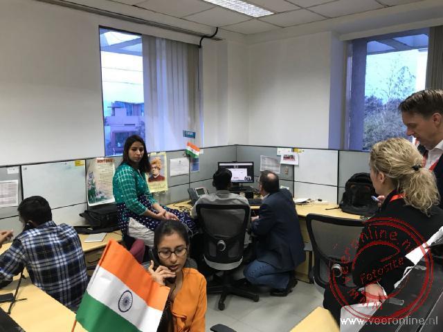 Een kijkje bij de werkplekken in India