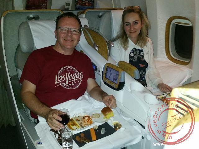 De vlucht naar Dubai