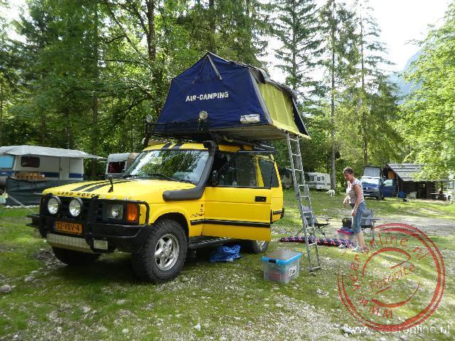 Op de camping bij lake Bohinj