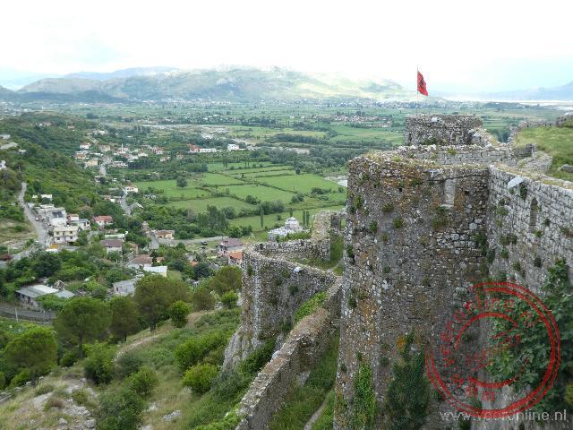 Het Rozafa fort net bij Shköder
