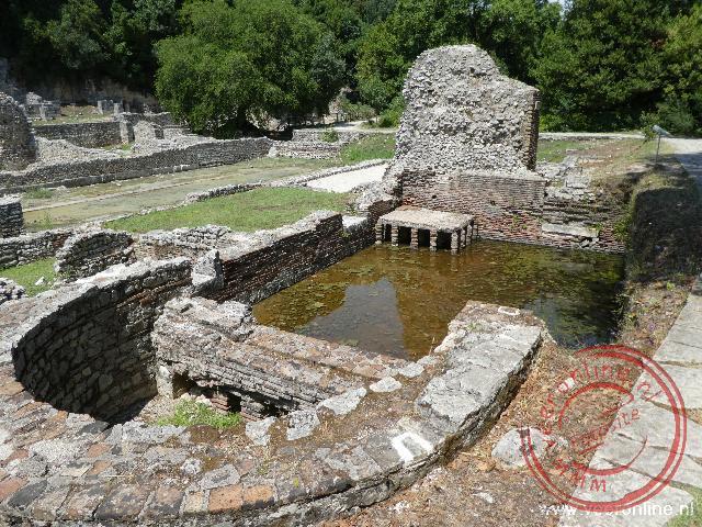 De oude Griekse opgravingen in Butrint