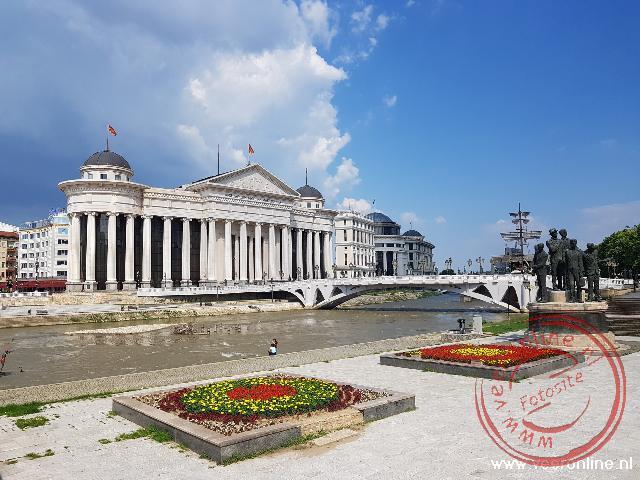 Het centrum van de hoodstad Skopje
