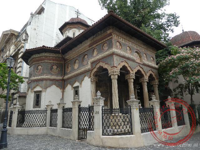 Een klein klooster in de oude wijk Lipscani