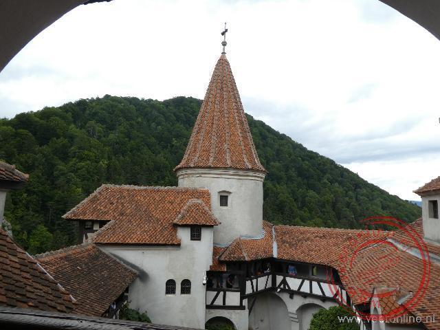 Een van de torens van het Bran Castle