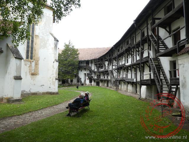 De verdedigingsmuur rond de kerk van Prejmer