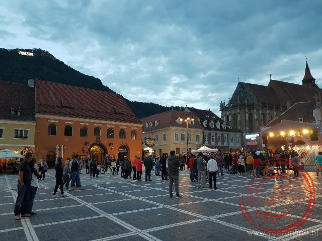 Het plein in Brasov