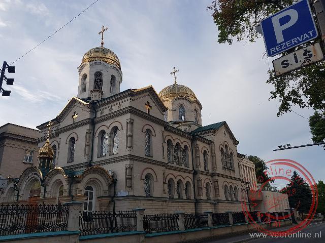 Een kerk in het centrum van de Moldaafse hoofdstad