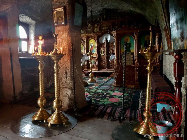 Het kleine klooster van Orhei Vechi is uit de rotsen gehouwen