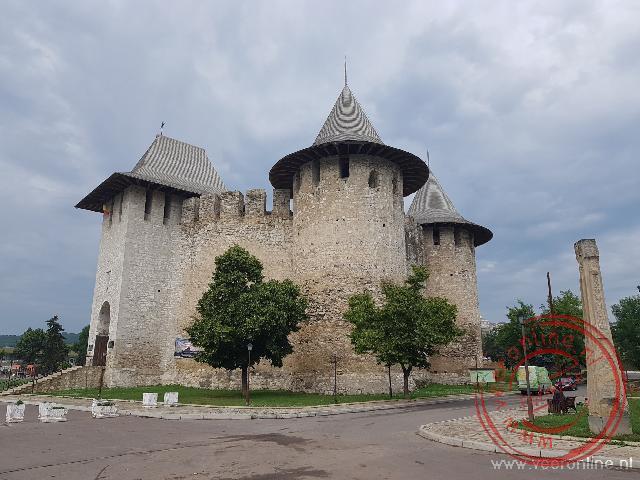 De weertorens van het kasteel in Soroca
