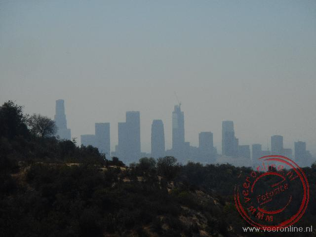 Coast to coast USA - De skyline van Downtown Los Angeles is nog net zichtbaar