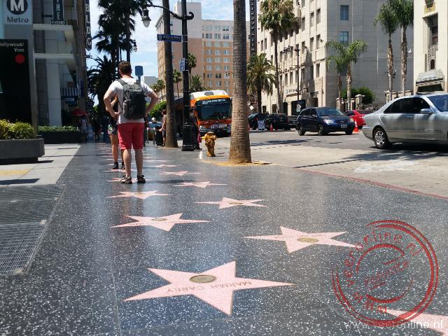 De sterren langs de Hollywood boulevard