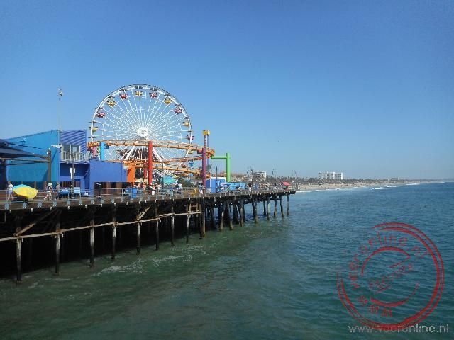 Kermisattracties op de pier van Santa Monica