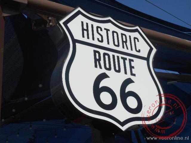 Overal staat aangegeven waar de Route66 vroeger liep