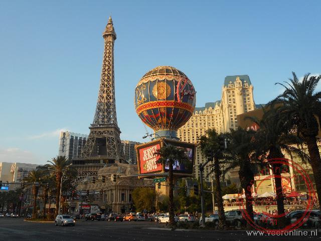 Een replica van de Eiffeltoren in Las Vegas