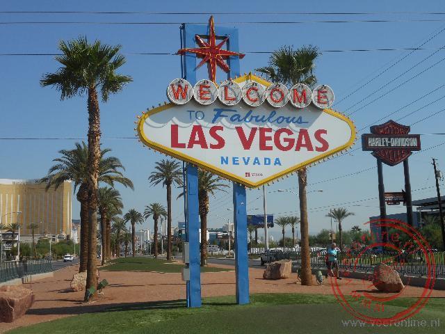 Het beroemde toegangsbord van Las Vegas