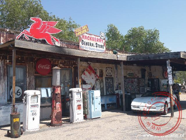 Een tankstation uit de Route66 periode