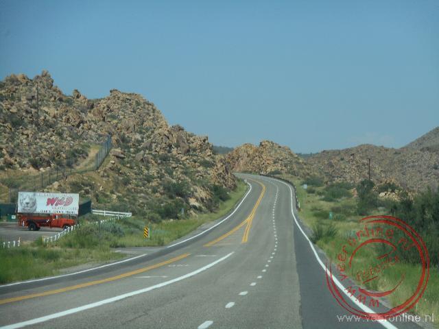 De weg naar de Grand Canyon National Park