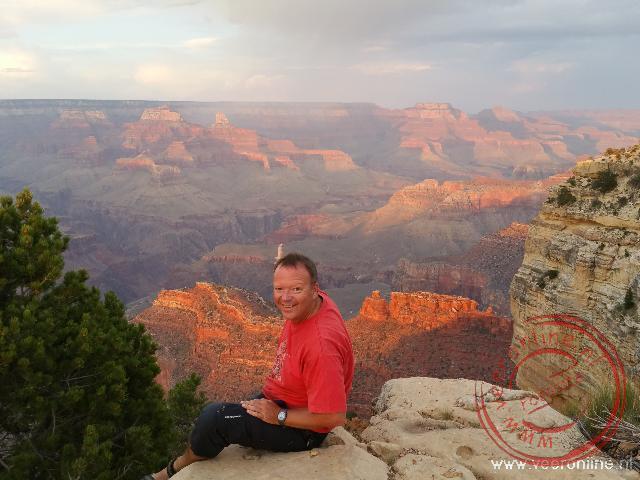 Uitzicht op de indrukwekkende Grand Canyon