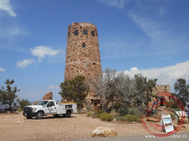 De uitkijktoren aan de rand van de Grand Canyon bij Desert View