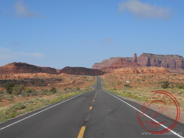 De weg van Monument Valley naar Santa Fe