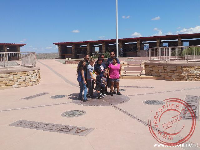 De plek waar de staten Utah, Colarado, Arizona en New Mexico elkaar raken