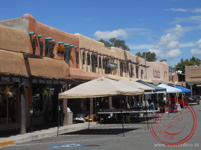 Het centrum van Taos bestaat uit lemen huizen