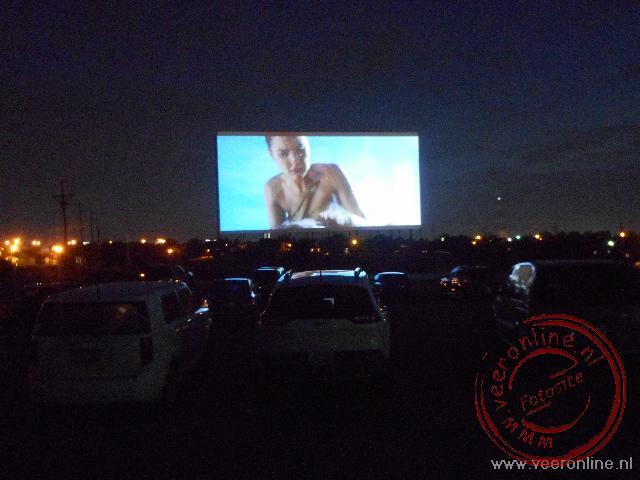 Film kijken vanuit de auto in Amarillo