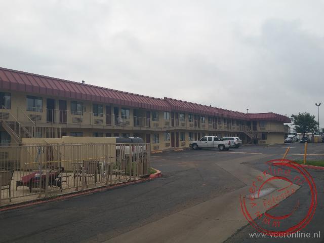 Het eenvoudige motel in Amarillo