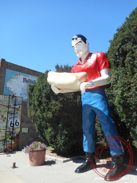 Het standbeeld van Tall Paul in Atlanta
